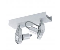 EGLO Lámpara de techo con 2 focos LED Novorio 2L 94643, aluminio