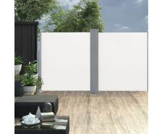 vidaXL Toldo lateral doble retráctil de jardín color crema 170x600 cm
