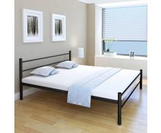 vidaXL Estructura de cama de metal negra 180x200 cm