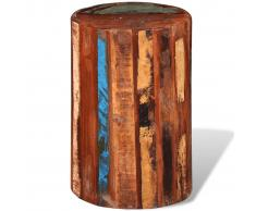 vidaXL Taburete de bar de madera sólida reciclada