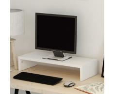 vidaXL Soporte para pantalla de aglomerado 60x23,5x12 cm blanco