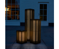 Luxform Lámpara solar LED de suelo Martinique 69 cm negra 30042