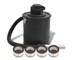 vidaXL Aspiradora de ceniza 1200 W 20 L negra
