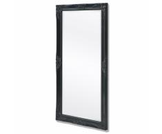 vidaXL Espejo de pared estilo barroco 120x60 cm negro