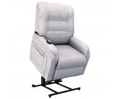 vidaXL Sillón eléctrico reclinable TV e incorporación tela gris claro