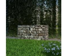 vidaXL Cesta de muro de gaviones acero galvanizado 100x50x50 cm