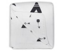 Jollein Manta de bebé muselina 120x120 negro y blanco 521-557-65081
