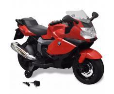 vidaXL Moto eléctrica de juguete color rojo, modelo BMW 283 6 V