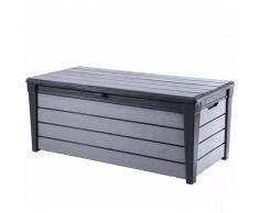 Keter Caja de almacenaje para jardín Brushwood 455 L antracita 227479