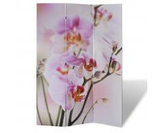 vidaXL Biombo divisor plegable 120x170 cm flores