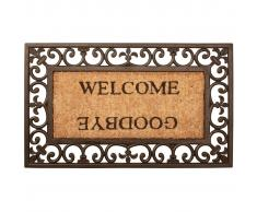 Esschert Design Felpudo de caucho Welcome/Goodbye RB12