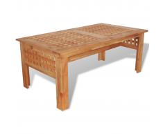 vidaXL Mesa de centro 100x54x40 cm madera maciza de nogal