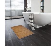 vidaXL Alfombrillas de baño 2 unidades bambú marrón 60x90 cm