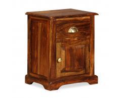 vidaXL Mesita de noche 40x30x50 cm madera maciza de sheesham