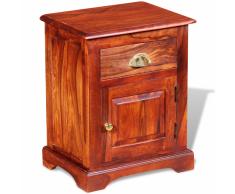 vidaXL Mesita de noche 40x30x50 cm madera maciza sheesham