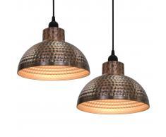 vidaXL Lámparas de techo semiesféricas 2 unidades color cobre