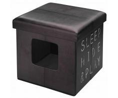 D&D Cama otomana de mascota Sleep Hide Play marrón oscura 434/431627