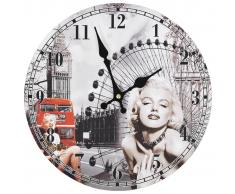vidaXL Reloj de pared vintage Marilyn Monroe 30 cm