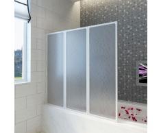 vidaXL Mampara de ducha con 3 paneles plegables, 141 x 130 cm