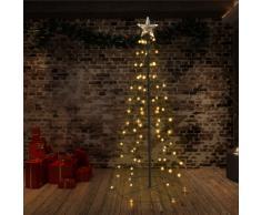 vidaXL Cono de 96 LED árbol de Navidad interior y exterior 72x180 cm