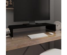 vidaXL Soporte para TV/Elevador monitor cristal negro 80x30x13 cm