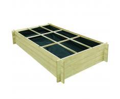 vidaXL Jardinera para verduras madera pino impregnada FSC 197x100x40cm