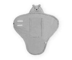 Jollein Manta envolvente para bebé Teddy Bear gris 032-566-65098