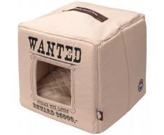 D&D D&D Cama cubo de mascota Wanted 40x40x40 cm beis 671/432310