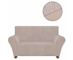 vidaXL funda elástica para sofá de tela jersey poliéster beige