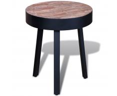 vidaXL Mesita redonda de madera teca reciclada