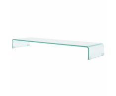 vidaXL Soporte para TV/Elevador monitor cristal claro 120x30x13 cm
