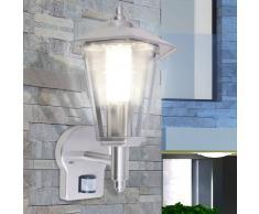 vidaXL Lámpara de Pared para Exteriores con Sensor Cuerpo Acero Inoxidable