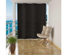 vidaXL Toldo cortina para balcón PEAD gris antracita 140x230 cm