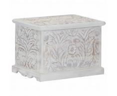 vidaXL Caja de almacenaje de madera maciza de acacia 58x40x40 cm