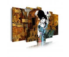 DEKOARTE Cuadro moderno en lienzo, estilo el beso Gustav Klimt.