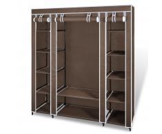 vidaXL Armario de tela marrón, con compartimento 45 x 150 176 cm