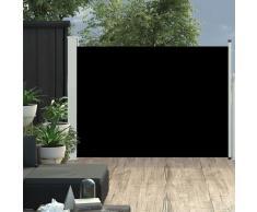 vidaXL Toldo lateral retráctil de jardín negro 120x500 cm