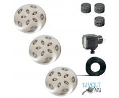 Luxform Lámparas LED de jardín Thalos juego completo 3 unidades 12 V
