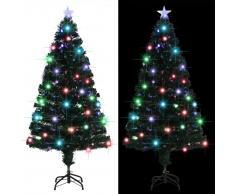 vidaXL Árbol de Navidad artificial con soporte/LED 150 cm 170 ramas