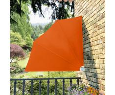 vidaXL Toldo lateral plegable para el patio, 140 x cm, terracota