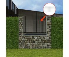 vidaXL Cesta en forma de U muro de gaviones galvanizado 160x20x150 cm