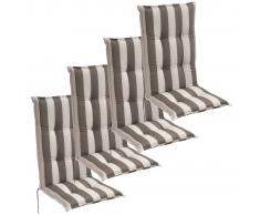 vidaXL Cojín para sillas de jardín 4 unidades 120x52 cm rayas grises