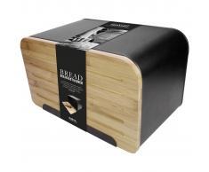 Gusta Panera con tapa de bambú Retro negra 01147950