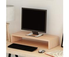 vidaXL Soporte para pantalla de aglomerado 60x23,5x12 cm beige