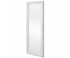 vidaXL Espejo de pared estilo barroco 140x50 cm blanco