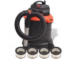 vidaXL Aspiradora de ceniza 1200 W 20 L negra y naranja