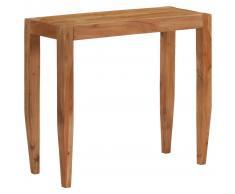 vidaXL Mesa consola madera de acacia maciza 101x35x80 cm marrón