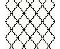 RoomMates Papel de pared adhesivo de enrejado moderno blanco RMK9018WP