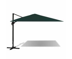 vidaXL Parasol verde voladizo de aluminio 3x4 m