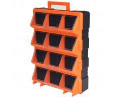 vidaXL Caja de herramientas de pared portátil con 12 compartimentos